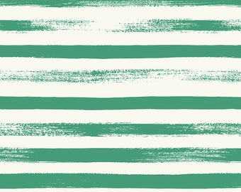 Ruby Star Society Pop Zip Emerald Green Stripe by Rashida Coleman Hale - Novelty Children's Fabric - (RS1005 17)