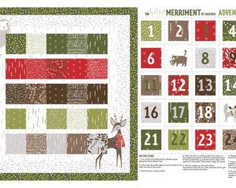 Gingiber Merriment Advent Calendar Panel  for Moda (48272 11)