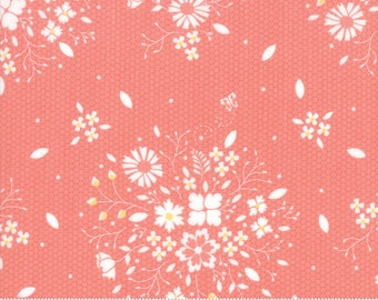 Sugarcreek Coral Laceflower by Corey Yoder (Little Miss Shabby) for Moda (29071 12)