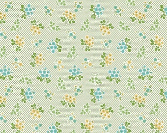 Granny Chic Green Bouquet by Lori Holt (Bee in My Bonnet) (C8515 GREEN) - Riley Blake Designs - Lori Holt Granny Chic