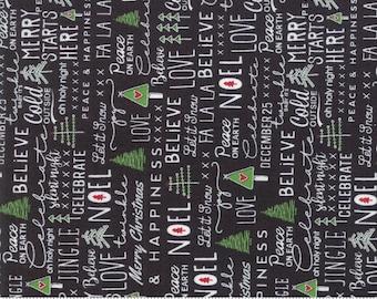 Merry Starts Here - Noel - Black - Sweetwater - Moda Fabrics - Christmas Fabric - (5730 13) - Sweetwater Merry Starts Here