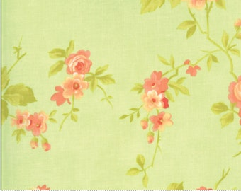 Fig Tree Chantilly Seafoam Cabbage Rose by Fig Tree & Co. for Moda (20340-15)