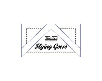 "Bloc Loc - Flying Geese Ruler 1 3/8 x 2 3/4"" - Quilting Tool"