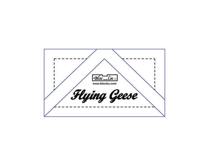 """Bloc Loc - Flying Geese Ruler 1 3/8 x 2 3/4"""" - Quilting Tool"""