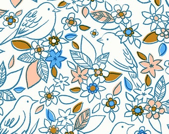 Aviary Chambray Botanical by Ruby Star Society for Moda Fabrics (RS5001 13) - Cut Options Available