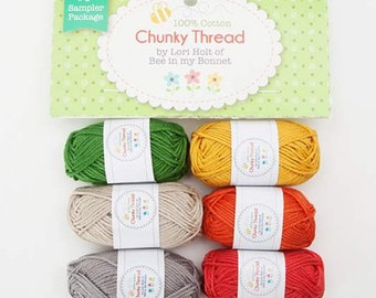 Chunky Thread Sampler Package #3 (STCT-11552) by Lori Holt - Crochet Thread, Knitting Thread, Crafting Thread