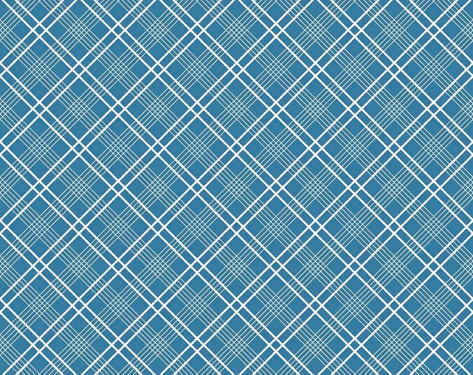 """Gingham Girls, By Amy Smart  Plaid Blue C5904-Blue - 21""""  Remnant"""