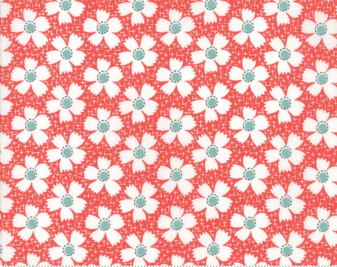 Farmhouse II (20323 11) Tomato Daisies Gingham by Fig Tree & Co.- 1/2 yard piece