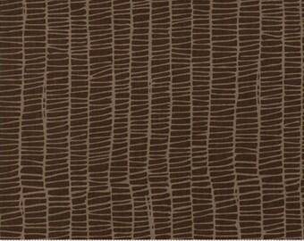 Merrily (48215 18) Chocolate Weave by Gingiber