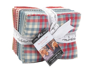 Northport Silky Wovens Fat Quarter Bundle by Minick and Simpson -  (29 FQ's) - (12215AB) - Beautiful Patriotic Colors