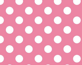Hot Pink Medium Dots by Riley Blake Designs (C360-70) Pink Basic Fabric - Quilting Cotton Fabric