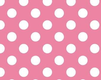 Riley Blake Designs, Medium Dots in Hot Pink (C360-70)