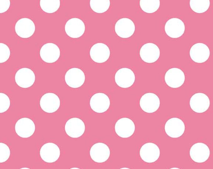 Riley Blake Designs, Medium Dots in Hot Pink (C360-70)