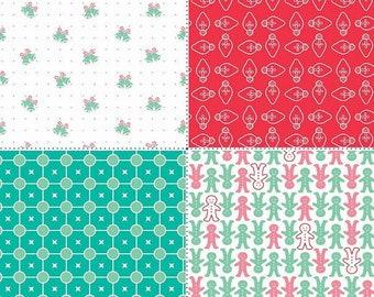 Cozy Christmas Fat Quarter Panel Red (FQP7974-Red)