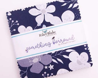 """Something Borrowed by Christopher Thompson 5"""" Stacker (The Tattooed Quilter) for Riley Blake Designs - Charm Pack - Precut Fabric"""