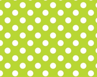 Riley Blake Designs, Medium Dots in Lime (C360 32)
