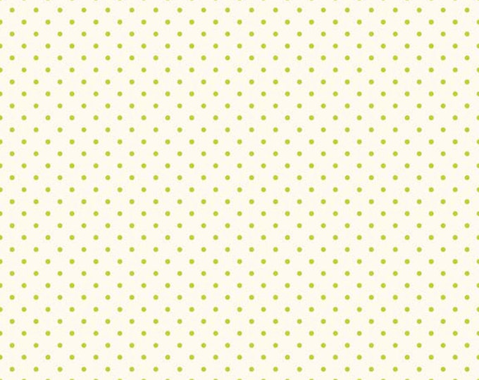 Riley Blake Designs, Swiss Dots in Cream Lime  (C600 32)