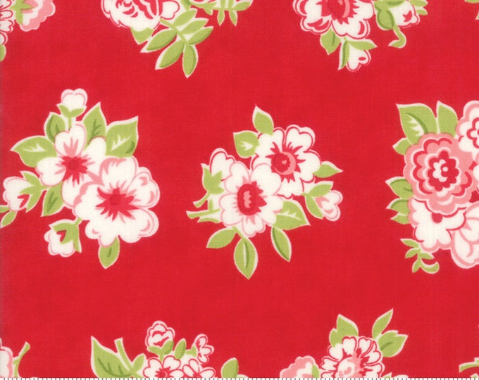 Little Snippets Red Marmalade Floral by Bonnie & Camille for Moda Fabrics (55188 11)