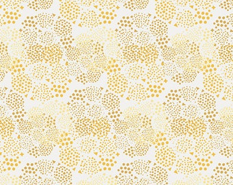 Geo Mist Gold from Anna Elise by Bari J for Art Gallery Fabrics (ANE-77507) Low Volume Fabric - Yellow and White Fabric