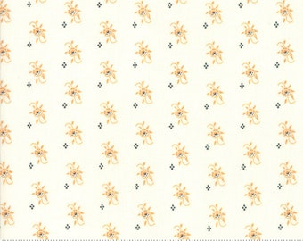 "Fig Tree All Hallows Eve Ghost Pumpkin Blooms - (20352 16)  by Fig Tree & Co. for Moda - Halloween Fabric - 5"" remnant"