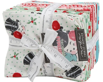Sweet Christmas  Fat Quarter Bundle (31150AB) by Urban Chiks -Fat Quarter Bundle - Urban Chiks Sweet Christmas FQ Bundle - Moda Fabrics