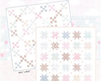 "Wonder Quilt Kit - Includes fabric for two pictured quilt tops and bindings! Nine Patch (47x47) and Star Quilt (38.5"" x 38.5"")"