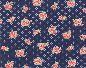 Early Bird Navy Sweet by Bonnie & Camille for Moda Fabrics (55191 15) - Cut Options Available