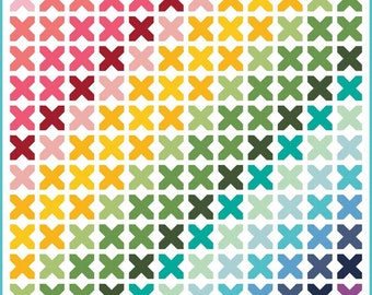 "Kisses Quilt Kit (KT0095) -  Pattern by Doodlebug Designs Inc. Finished Quilt Size 80.5"" x 87"""
