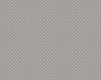 Riley Blake Designs, White Swiss Dot on Gray  (C670 40)