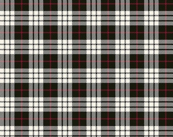 Winterberry - Black Plaid - My Mind's Eye - Riley Blake Designs - Christmas Fabric - Cut Options Available (C8444 BLACK)