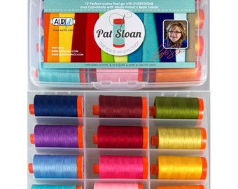 Pat Sloan's Perfect Box of Colors - (12) Aurifil spools