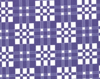 Good Morning by Me and My Sister - Plaid & Proud in Positively Purple (22183 13) - 1/2 yard piece