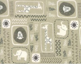 Safari Life Khaki African Block Print by Stacy Iest Hsu for Moda Fabrics  (20644 12) - Animal Fabric - Cut Options Available