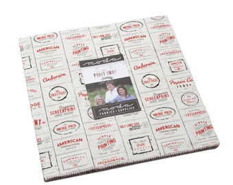 "Sweetwater Print Shop Layer Cake (5740LC) - Sweetwater for Moda Fabrics - 10"" squares - Print Shop"