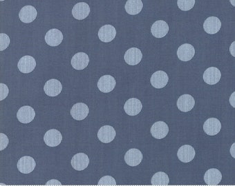Harvest Road Indigo Modern Dot by Lella Boutique for Moda Fabrics - (5103 16) - Cut Options Available