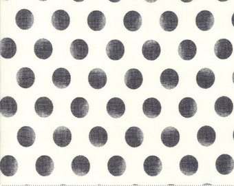 Merry Starts Here - Snowballs - Black - Sweetwater - Moda Fabrics - Christmas Fabric (5738 25) - Sweetwater Merry Starts Here