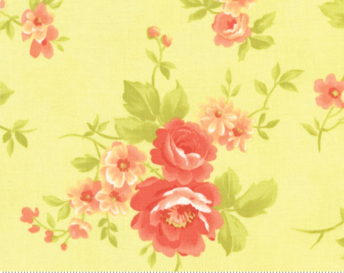 Fig Tree Chantilly Sprout Cabbage Rose by Fig Tree & Co. for Moda (20340-18)