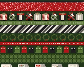 Christmas Delivery Stripe Green C7337-Green by Carta Bella