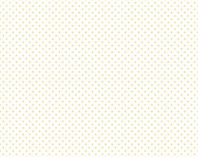 Riley Blake Designs, Swiss Dot On White Color Yellow (C660 50)