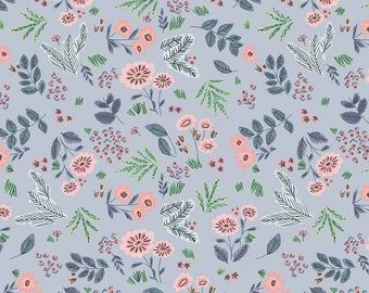 Edie Jane - Floral - Blue (C8181 BLUE) by Deena Rutter for Riley Blake Designs - Girl Fabric  - Cotton Quilting Fabric