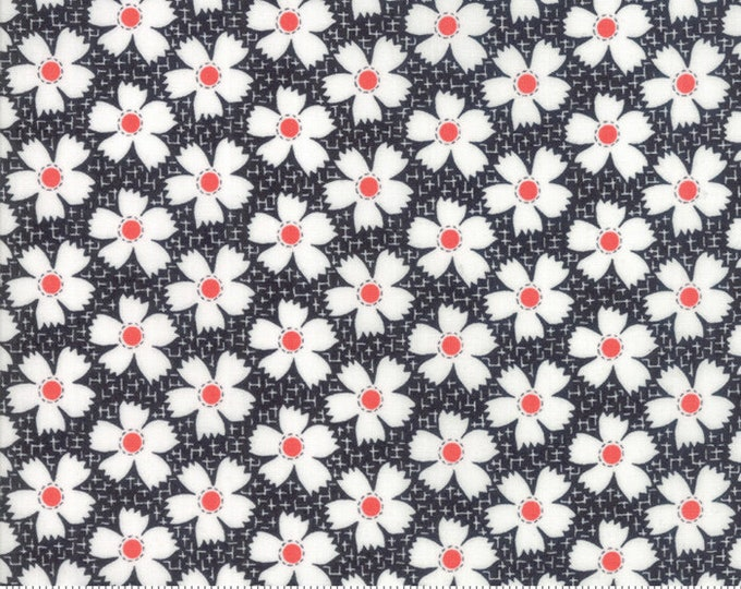 Farmhouse II (20323 18) Midnight Daisies Gingham by Fig Tree & Co.