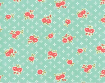 Early Bird Aqua Sweet by Bonnie & Camille for Moda Fabrics (55191 12) - Cut Options Available