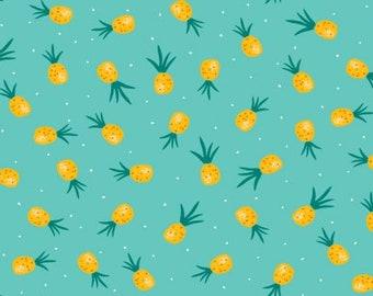 Dear Stella Pineapple Crush in Atlantis Yardage (STELLA-1266)  Pineapple Fabric - Cut Options Available