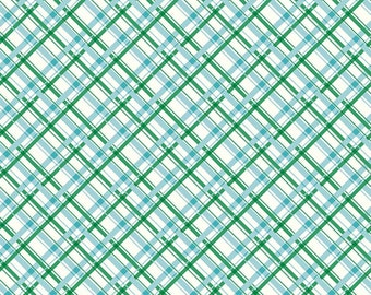 Sugarhouse Park Aqua Plaid Yardage by Amy Smart (Diary of a Quilter) for Riley Blake Designs (C8896-AQUA) Cut Options Available