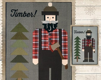 Timber! Lumberjack Quilt Pattern for Riley Blake Designs - Pattern includes instructions for 4 FT or 8 Ft options