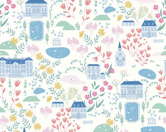 Pemberley Cream Main by Citrus and Mint Designs for Riley Blake Designs (C8820-CREAM)  - Jane Austen Fabric