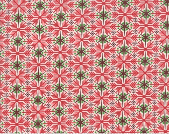 Kringle Claus - Frosty Flakes - Berry - (30594 11) - BasicGrey Kringle Claus for Moda Fabrics -  Cotton Quilting Fabric - Kringle Klaus