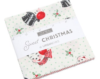 Charm Pack of Sweet Christmas by Urban Chiks for Moda Fabrics - (31150PP)  - Christmas Charm Pack