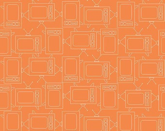 Bee Basics By Lori Holt TV Orange (C6411-Orange) - 3/4 yard