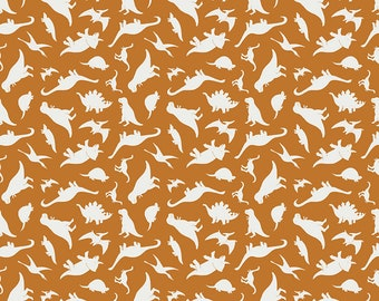Fossil Rim 2 Orange Tiny Dino by Deena Rutter for Riley Blake Designs (C8872-ORANGE) - Dinosaur Fabric - Cut Options Available